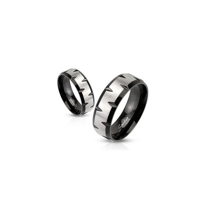 bague anneau homme femme acier et plaqu noir originale pas cher. Black Bedroom Furniture Sets. Home Design Ideas