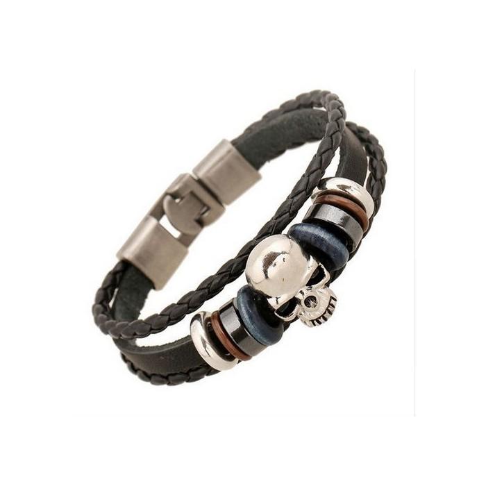 Bracelet homme cuir et perle - les patients du doc 733261bc8f80