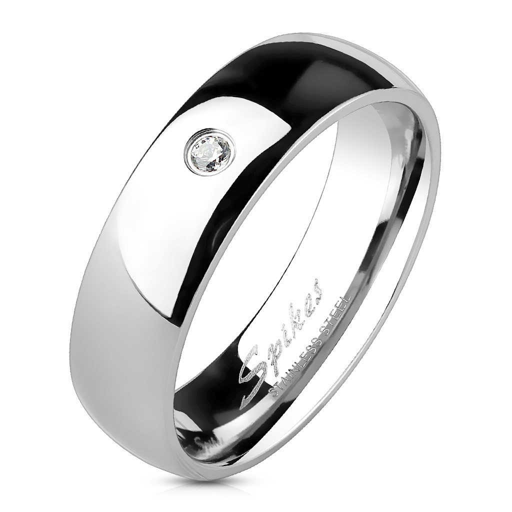 Super BAGUE ALLIANCE MARIAGE HOMME FEMME COUPLE ACIER EFFET MIROIR ZIRCON IF51
