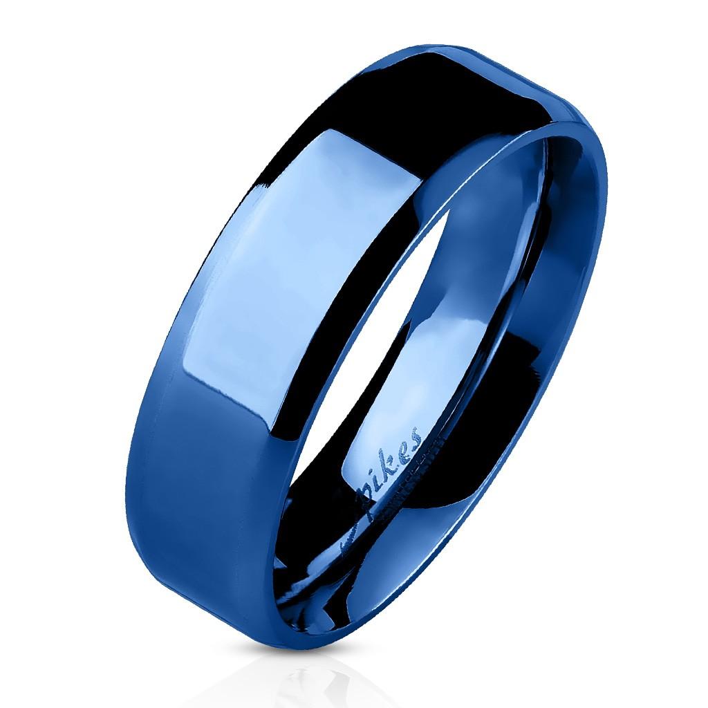Couleur Bague Couple Acier Plaqué Homme Laqué Femme De Bleu Fiançaille XwOkP8n0