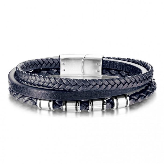 bracelet cuir homme bleu