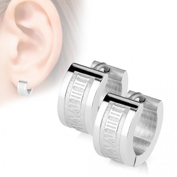boucle d'oreille homme acier inoxydable
