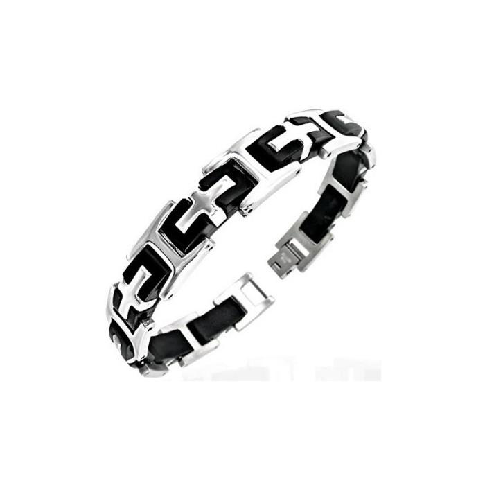 bracelet acier ado bijoux la mode. Black Bedroom Furniture Sets. Home Design Ideas