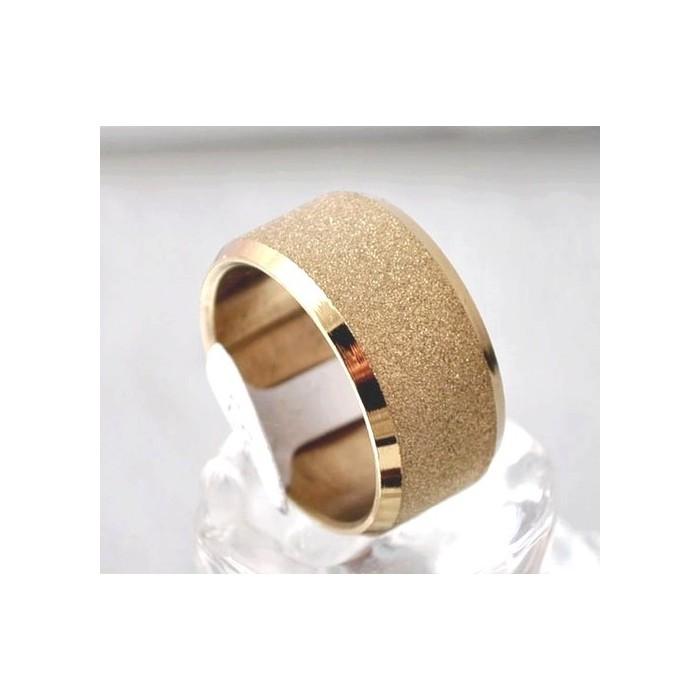 bague anneau pour homme femme ado plaque or dore large. Black Bedroom Furniture Sets. Home Design Ideas